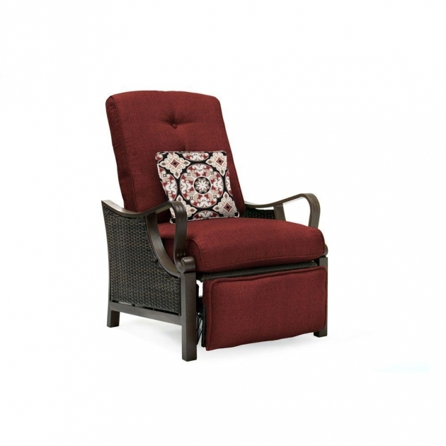 Popular Wicker Reclining Patio Chair Image