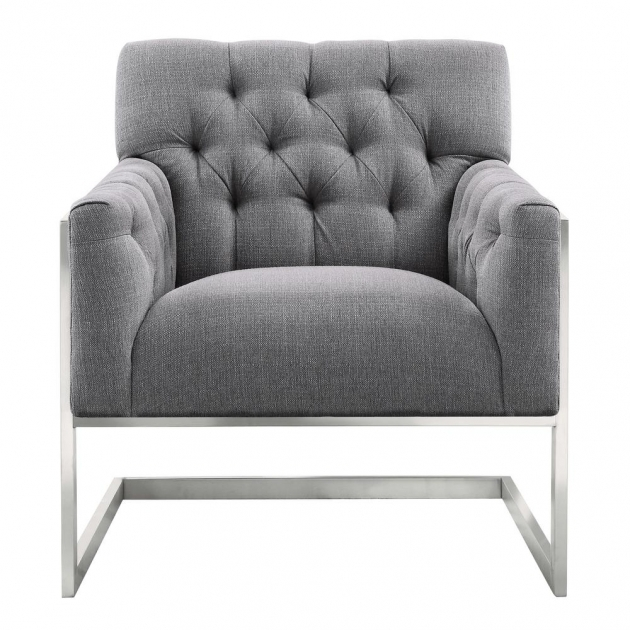 Remarkable Grey Patterned Accent Chair Picture