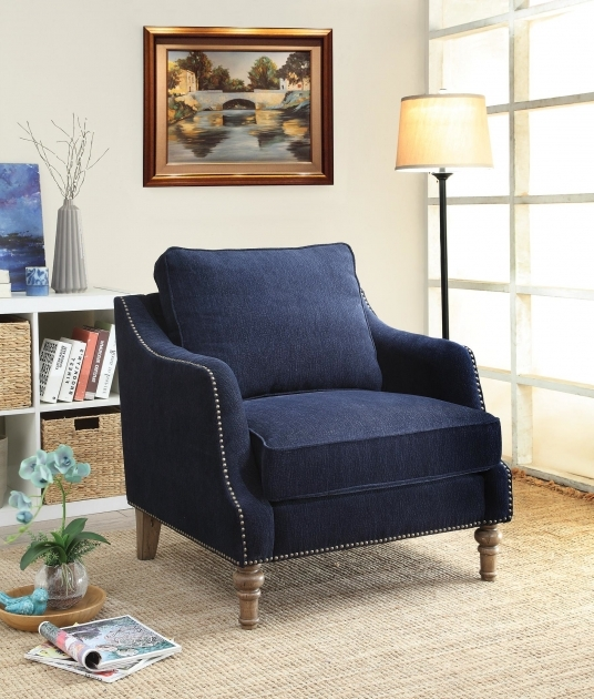 Remarkable Navy Blue Accent Chairs Photo