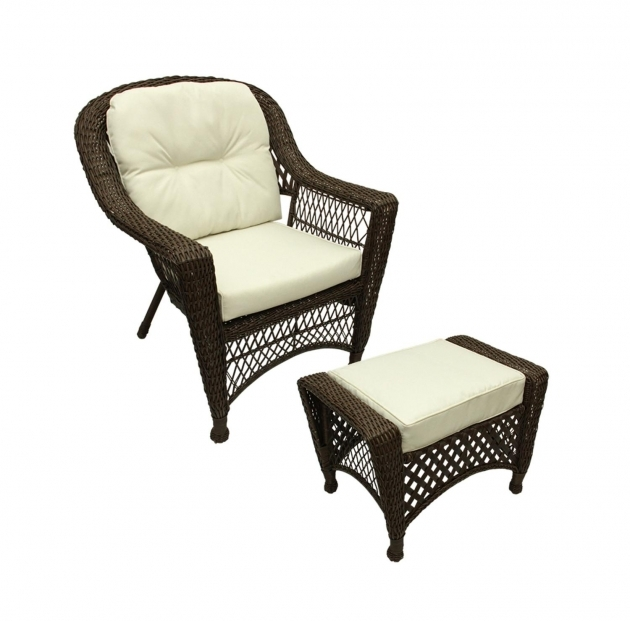 Remarkable Patio Chair With Ottoman Set Photos