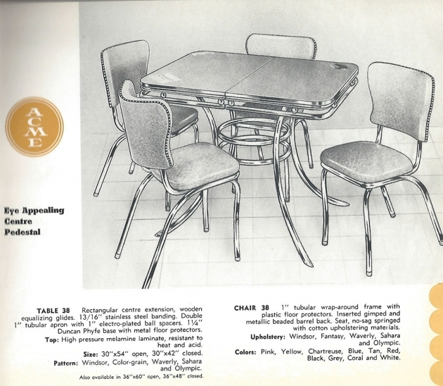 Remarkable Retro Kitchen Table And Chairs Canada Picture