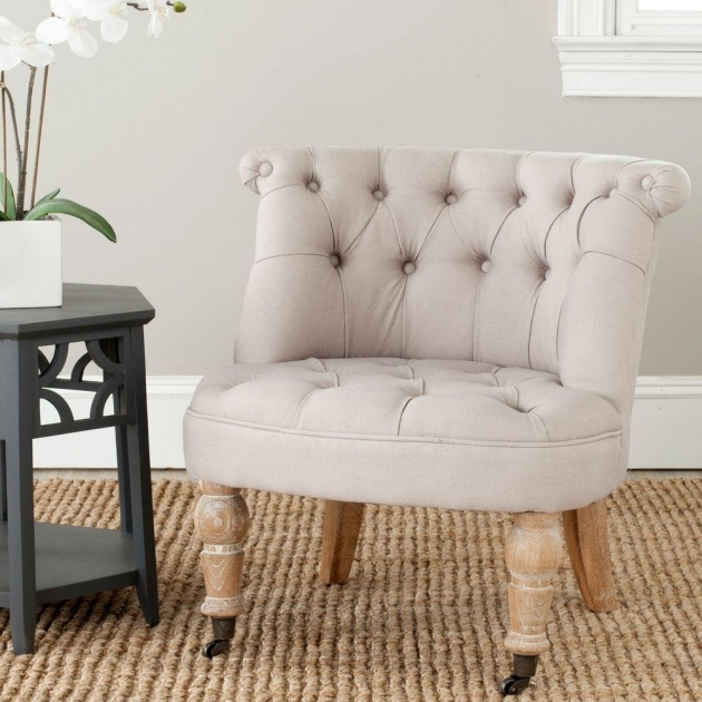 Remarkable White Tufted Accent Chair Pic