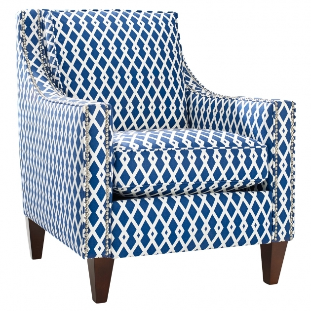 Splendid Blue And White Accent Chair Image