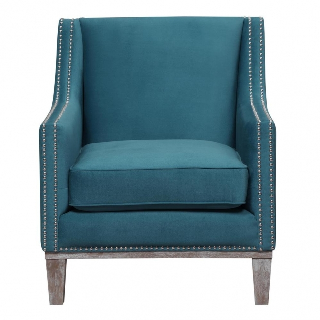 Stylish Aqua Accent Chair Pic