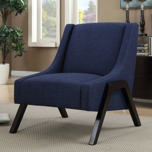 Stylish Navy Blue Accent Chairs Photos
