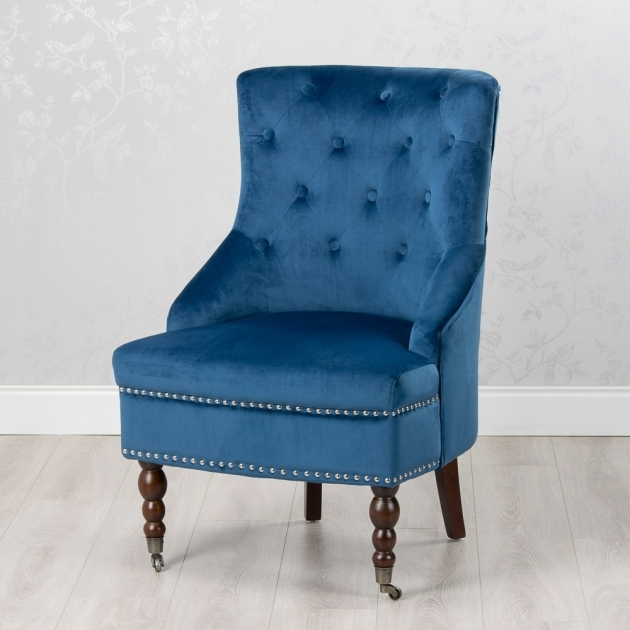 Stylish Royal Blue Accent Chair Pictures