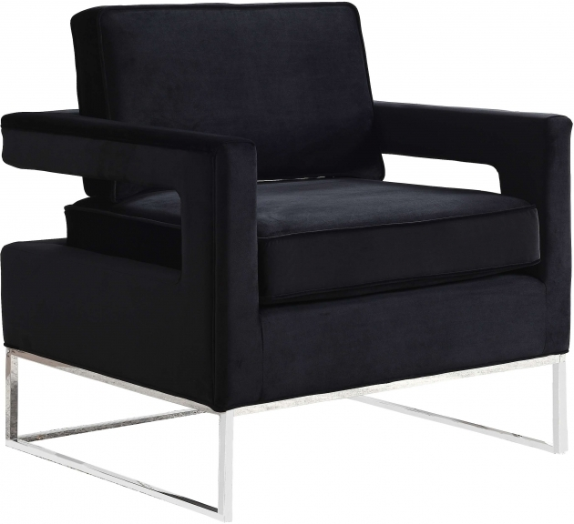 Top Black Velvet Accent Chair Pic