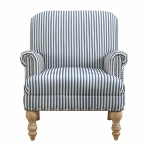 Blue And White Accent Chair