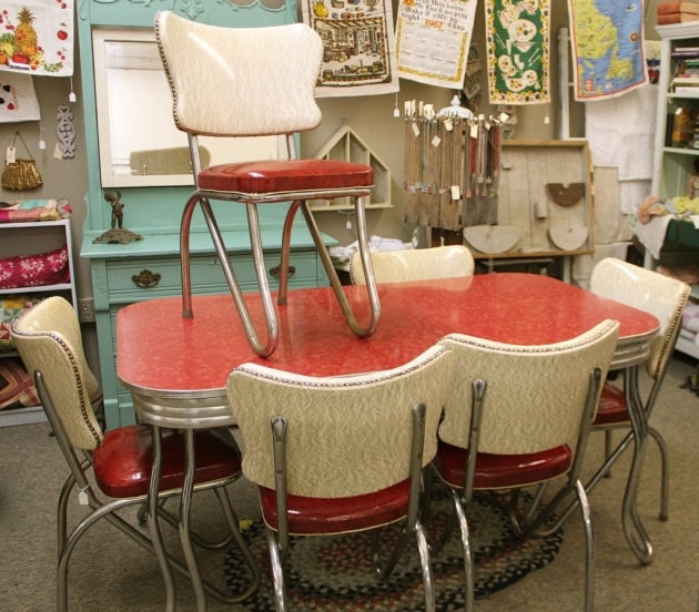 Top Retro Kitchen Tables And Chairs Image