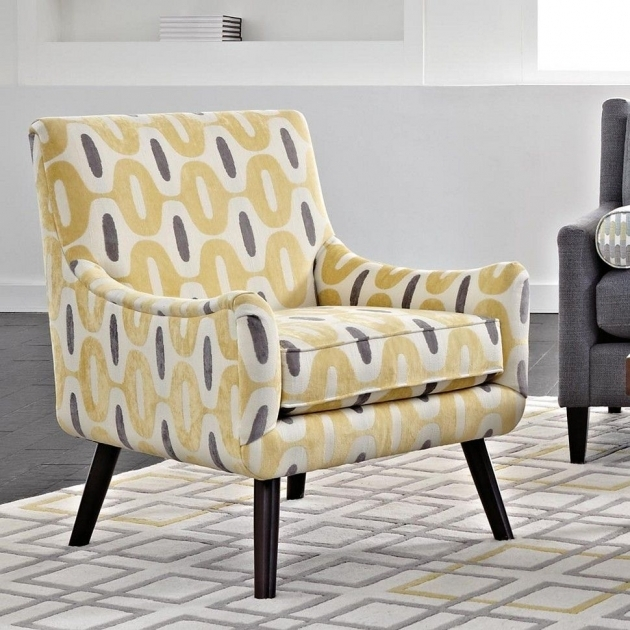 Top Yellow And Gray Accent Chair Image