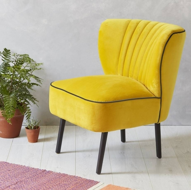 Unique Gray And Yellow Accent Chair Pic