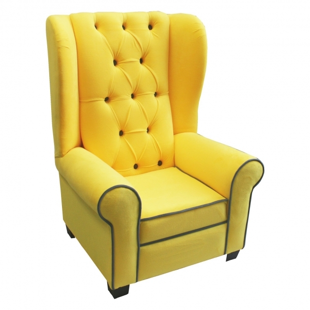 Unique Gray And Yellow Accent Chair Picture