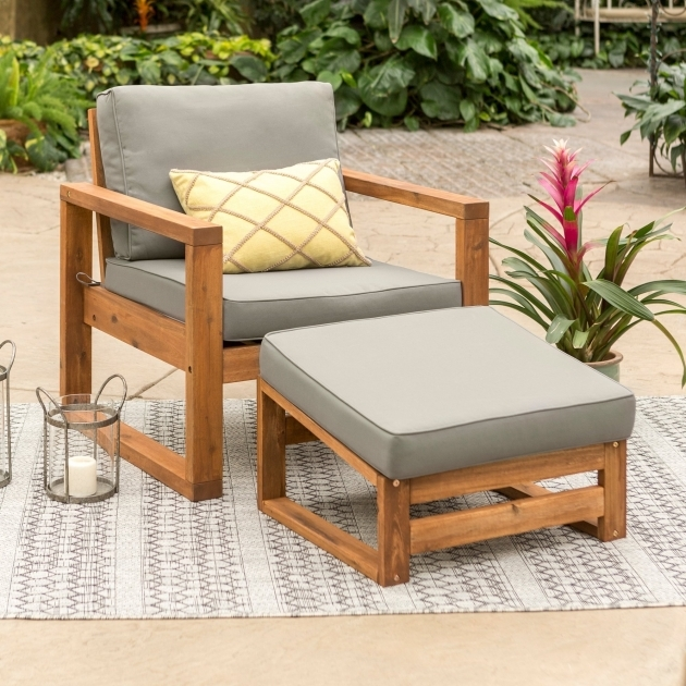 Unique Patio Chair With Ottoman Set Pics