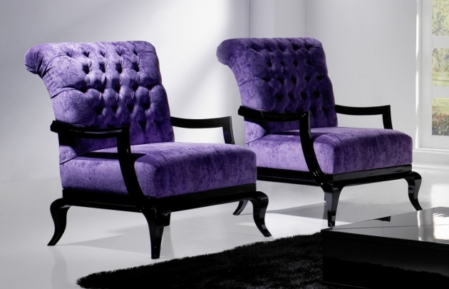 Unique Purple Accent Chairs Sale Photo