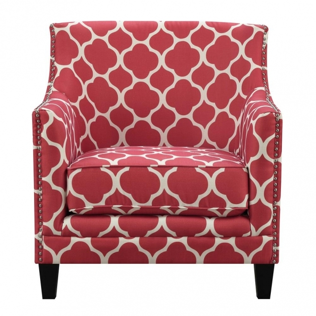 Unique Red Pattern Accent Chair Pictures