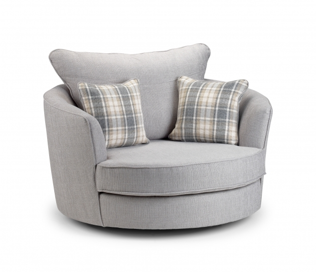 Attractive Round Swivel Chair Grey Picture 87