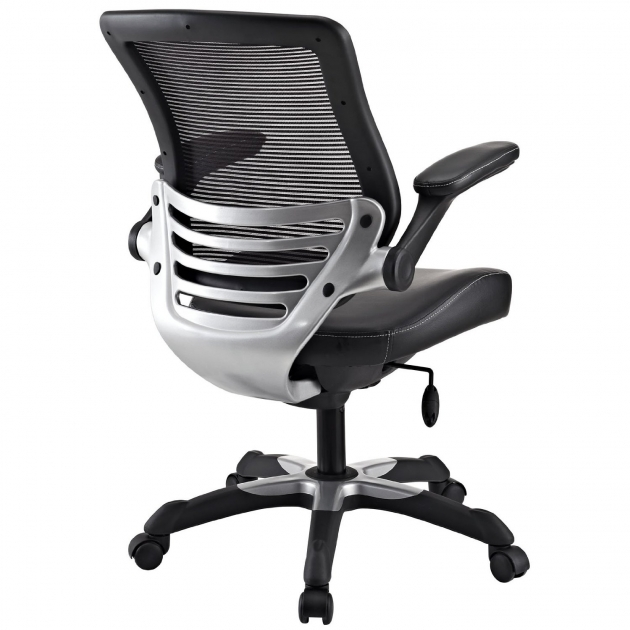 Best Office Chair For Back Pain Lexmod Edge Office Chair With Mesh Back And Black Leatherette Seat Pic 74