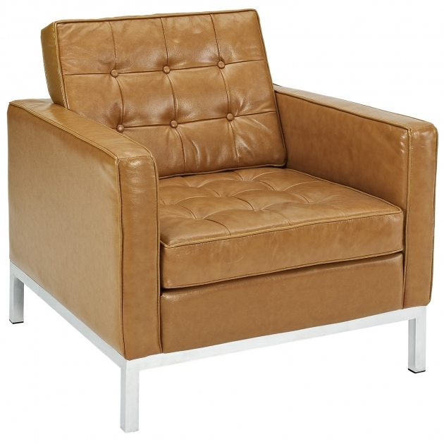Leather Club Chair Modern Tan Pictures 45