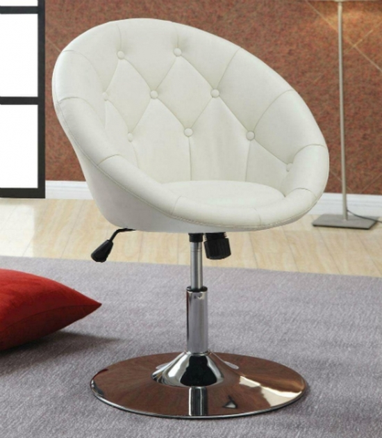 Maria White Bar Stool Coaster White Leather Swivel Chair Steal A Sofa Furniture Image 09