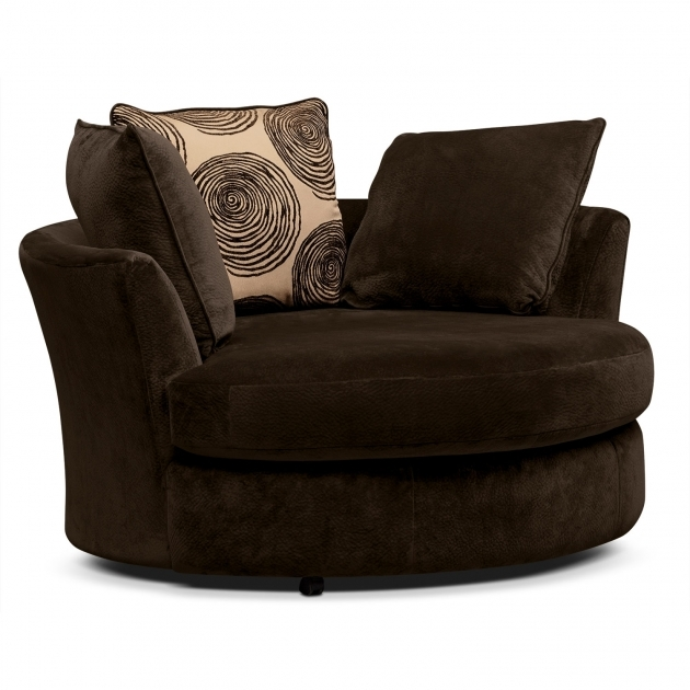 Marvelous Round Swivel Chair Living Room Chairs Oversized Furniture Photo 29