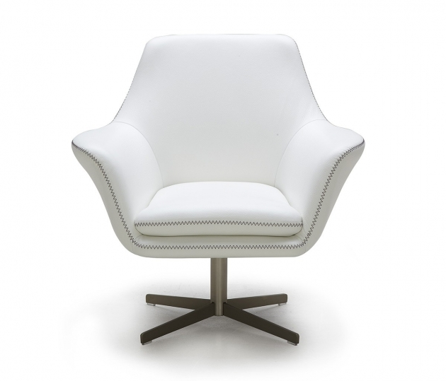 Modern Swivel Chair White Pic 30
