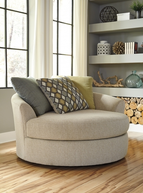 Oversized Swivel Chair Casheral Linen Accent Chair Image 62