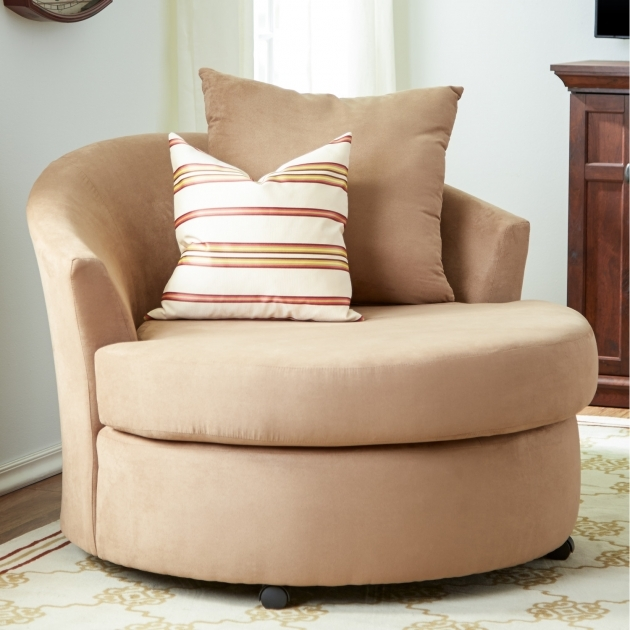 Oversized swivel chair for decoration small living room for Swivel chairs for living room
