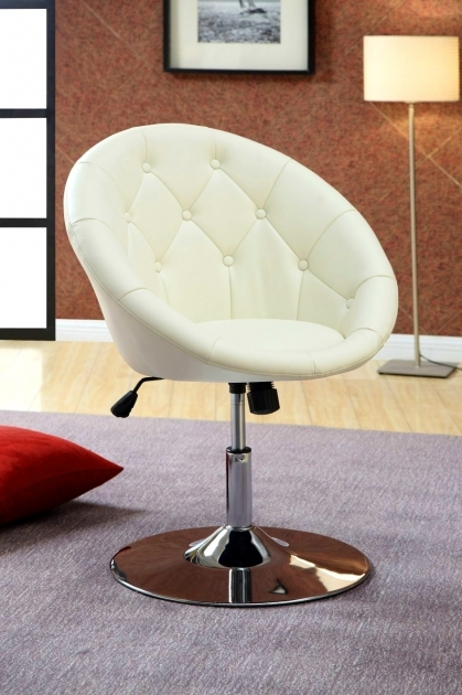 Small Swivel Chair Upholstered Spinning Desk Image 05