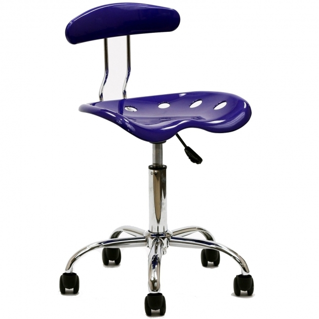 Swivel Desk Chair Dark Blue Acrylic With Caster Wheels  Pic 65