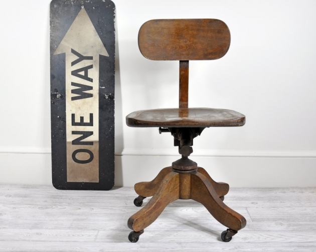 Swivel Desk Chair Vintage Wood Office Chair Pics 70