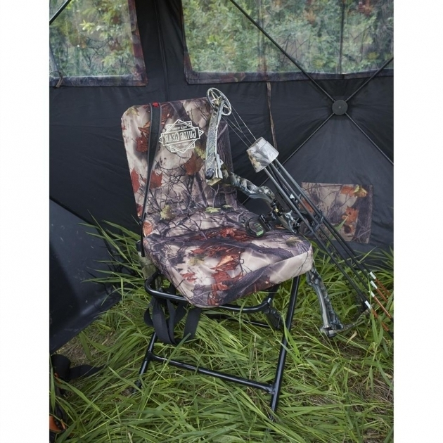 360 Swivel Hunters Camo Ground Blind Swivel Hunting Chair With Backrest Photos 30