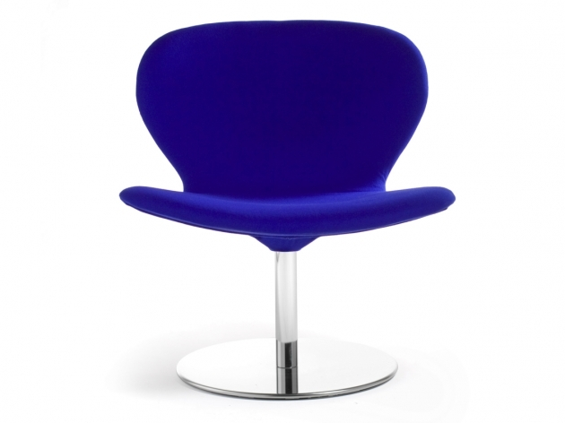 Blue Swivel Chair Office Furniture Fabric Pic 03