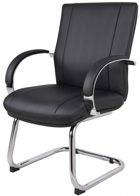 Boss Office Guest Chairs Aaria Elektra In Chrome Finish And Black Pictures 61