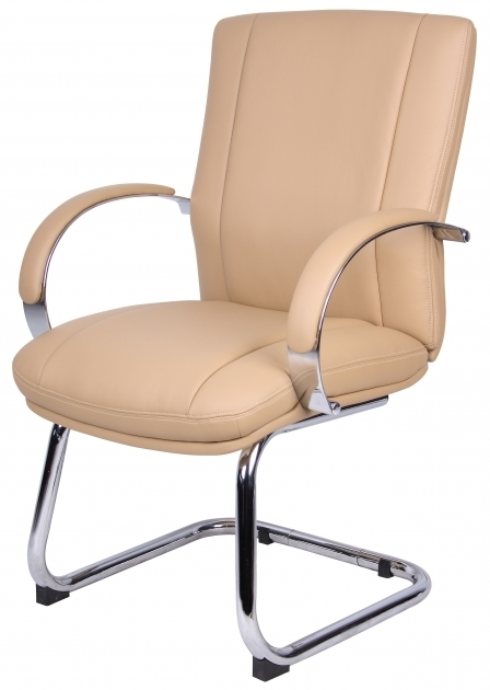 Boss Office Guest Chairs Aaria Elektra In Chrome Finish Tan Upholstery Image 46