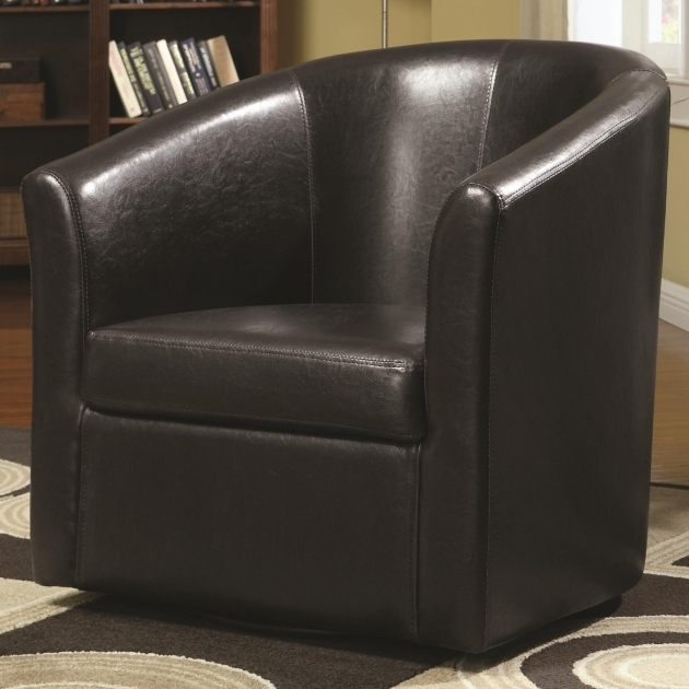 Brown Leather Coaster Swivel Chair Images shoshuga 06
