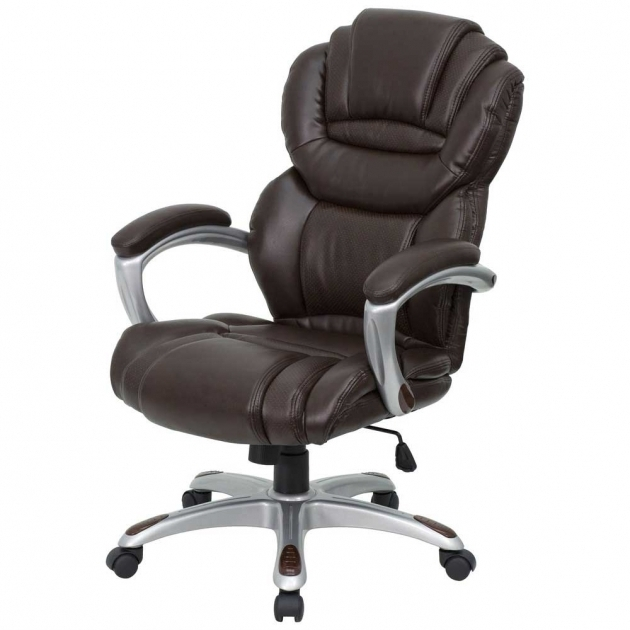 Brown LeatherLazy Boy Executive Chair With Padded Arms  Photos 34