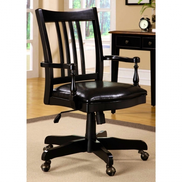 Contemporary Wooden Swivel Desk Chair Home Design Ideas Black Upholstered Images 90