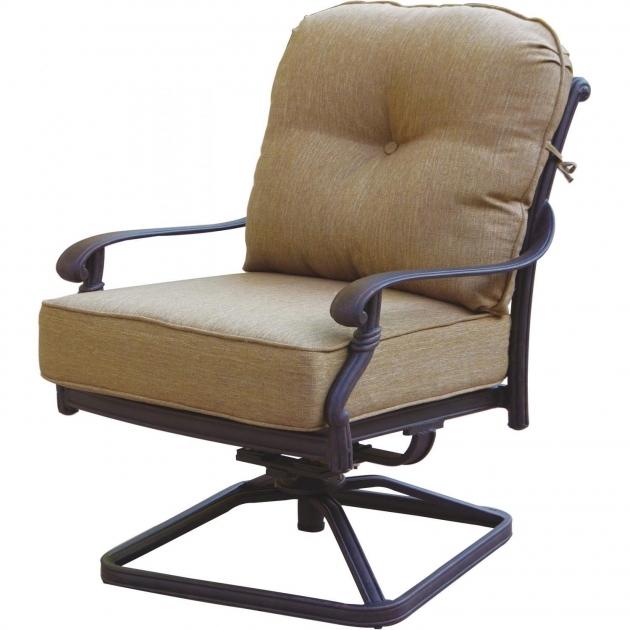 Darlee Santa Monica Outdoor Swivel Chairs Cast Aluminum Patio Swivel Rocker Club Chair Images 59