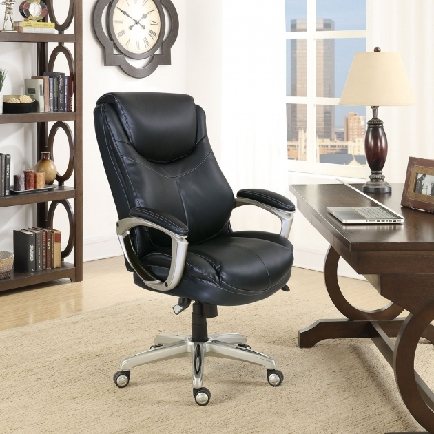 Desmond Big Amp Tall La Z Boy Executive Office Chair Black Images 22