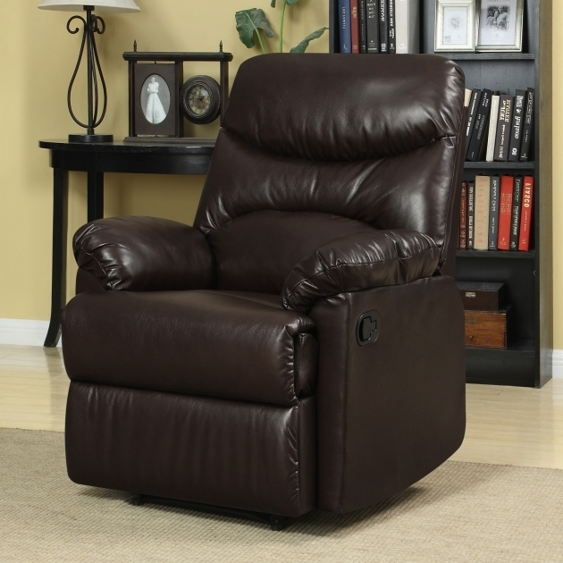 Elegant Dark Brown Leather Upholstered Club Chairs For Small Spaces Combined Black Hardwood Bookshelves Picture 59