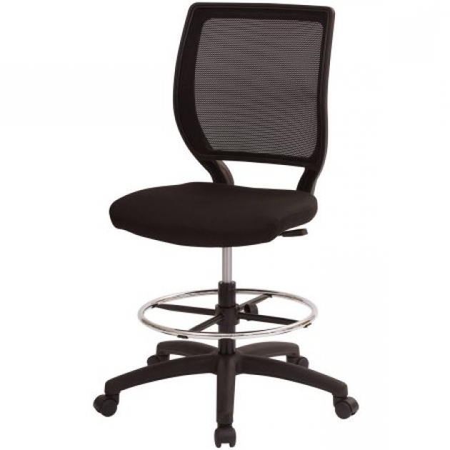 Fabric Armless Office Chairs With Wheels Images 67