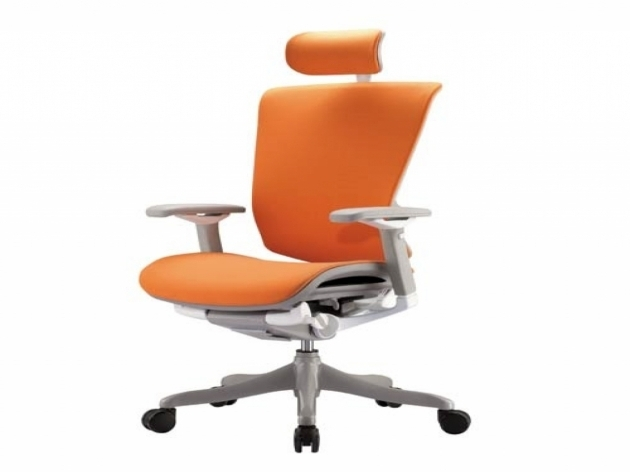 Genuine Leather Orange Office Chair Picture 94