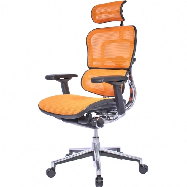 Herman Miller Orange Office Chair Color Mesh Seat And Back Design Material Adjustable Padded Arms Steel Frame Photo 28