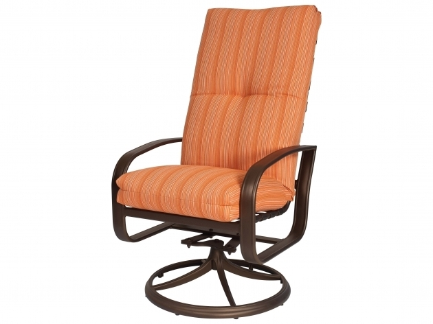 High Back Swivel Rocker Patio Chairs With Cushion  Images 33