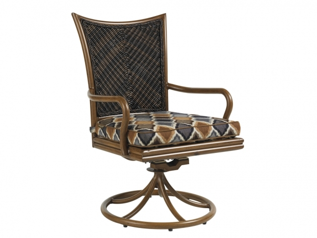 Island Estate Lanai Swivel Rocker Outdoor Swivel Dining Chairs Image 25