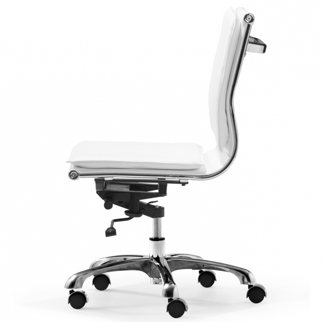 Lider Plus White Armless Office Chair Images 60
