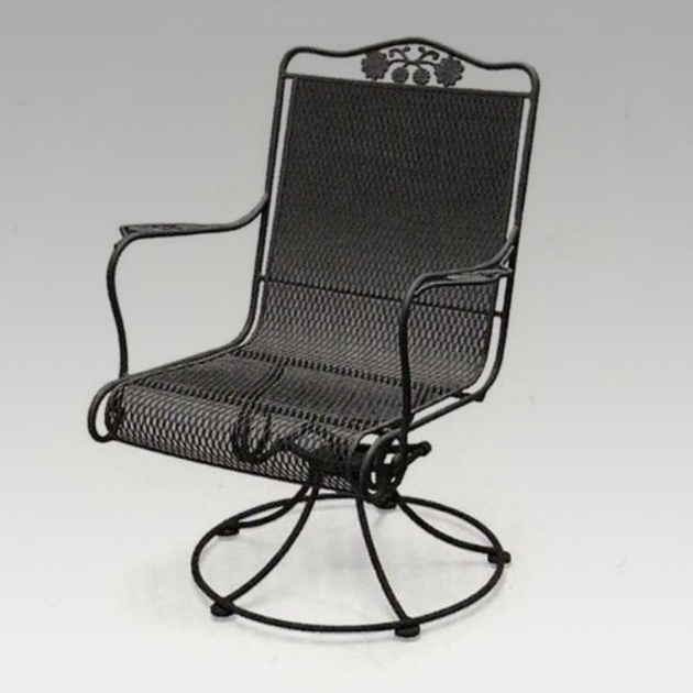 Metal High Back Swivel Rocker Patio Chairs Images 86
