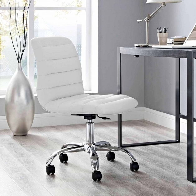 Modway Ripple Mid Back White Armless Office Chair Multiple Colors Photo 53
