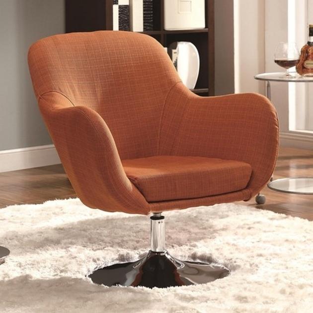 Orange Fabric Coaster Swivel Chair Steal A Sofa Furniture Photos shoshuga 95