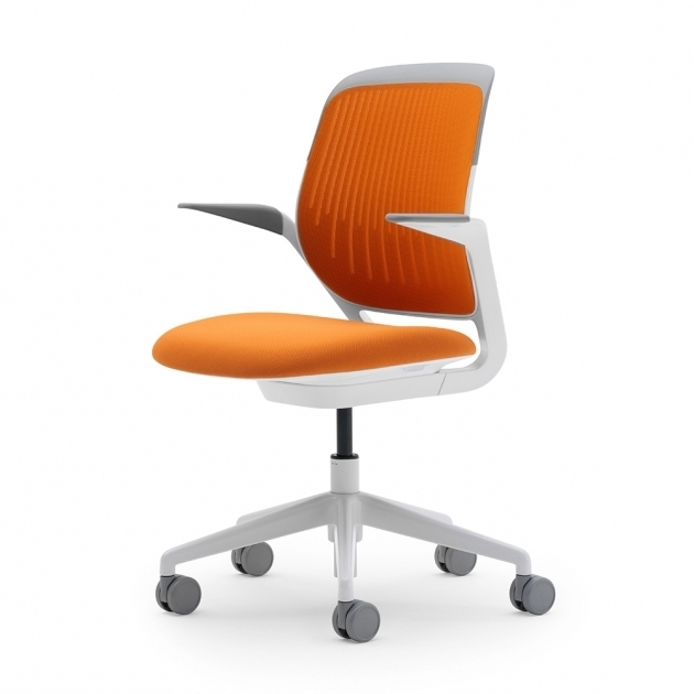 Orange Office Chair Cobi Desk Chair With White Frame Modern Office Furniture Image 57